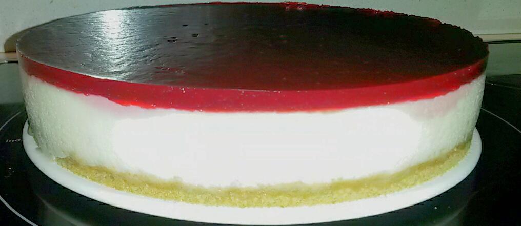 Tarta de cuajada con chocolate blanco