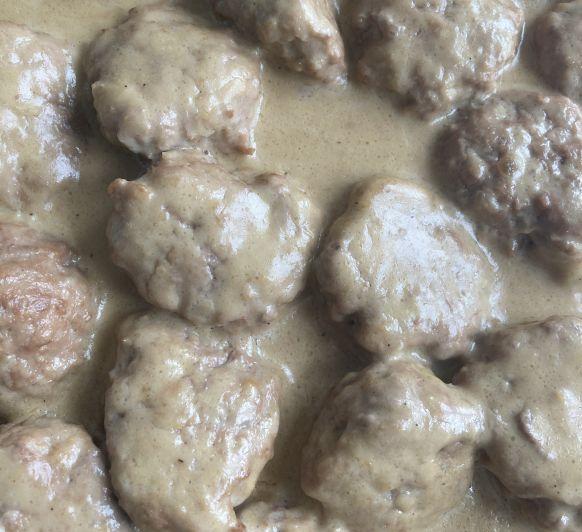 Albóndigas en salsa de nata Thermomix®
