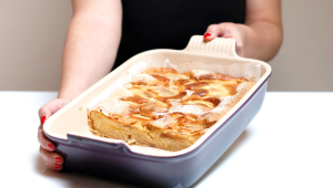 Tarta de manzana y pera (postre light)